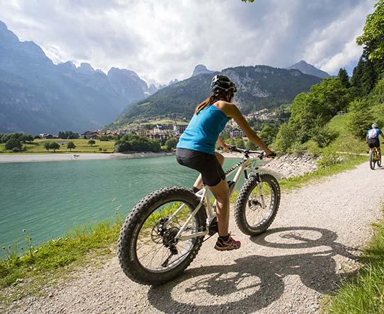 bike molveno al lago, dolomiti di Brenta